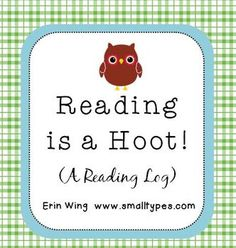 Reading is a Hoot: Owl Themed Reading Log