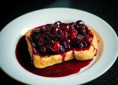 Hangover-tastic French Toast with Berry Compote