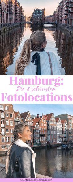 """Hamburg ist eine der schönsten und sehenswertesten Städte in Deutschland. Kein Wunder, dass sich hier tolle Fotolocations aneinander reihen. Du suchst instagrammable Foto Spots in Hamburg? Der Post """"Hamburg: Die 5 schönsten Fotolocations"""" wird dir bei deiner nächsten Hamburg Reise mit Tipps helfen: http://franziskanazarenus.com/2018/03/25/die-5-schoensten-fotolocations-in-hamburg/"""