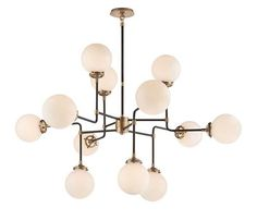 BISTRO MEDIUM CHANDELIER - it comes in other sizes - this is a knock off of an old vintage Stilnovo and one of my favorites of the mid century.
