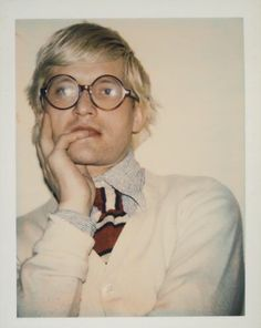"frankiethebaron: "" David Hockney by Andy Warhol """