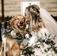 Wedding Pics 30 gorgeous photo ideas of wedding pets for your album! - Some couples want to include pets in their wedding day. Here you find wonderful photo ideas with wedding pets, ideas how to include dog to your wedding. Wedding Goals, Wedding Pics, Wedding Planning, Dogs In Wedding, Weddings With Dogs, Outdoor Wedding Pictures, Dog Wedding Attire, Romantic Wedding Photos, Wedding Tuxedos