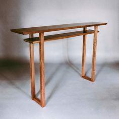 The Classic Console Table - Walnut - hallway table/ narrow entry table – Mokuzai Furniture Narrow Hallway Table, Wood Entry Table, Narrow Console Table, Bar Console, Consoles, Zen Furniture, Joinery Details, Table Bar, Wood Source