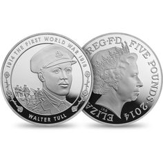 First World War - Outbreak 2014 UK £5 Silver Proof 6 Coin Set | The Royal Mint. £450.00. - the Walter Tull coin. http://www.royalmint.com/shop/First_World_War_Outbreak_2014_UK_5_pound_Silver_Proof_6_Coin_Set
