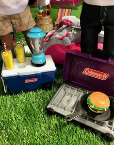 """Doll Clothes 18/"""" Camp Stove and Food Set Coleman Sized For American Girl Dolls"""