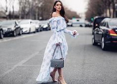 Leaving the Dior show today  Dress from @luisaviaroma (CC by Camilla Cappelli)  Photo taken by @moeeztali