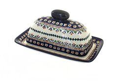 Polish Pottery Daisy Butter Dish ** Clicking on the VISIT button will lead you to find similar pottery product