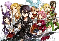 Anime Sword Art Online II  Strea Yui Asuna Yuuki Kirito Silica Leafa Lisbeth Sinon Wallpaper