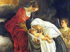 Orazio Gentileschi, Madonna col Bambino e Santa Francesca Romana
