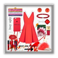 """""""Tart"""" by ugh-why-life-why ❤ liked on Polyvore featuring Edie Parker, Henry Dunay, Journee Collection, Topshop, Smashbox, Maybelline, Yves Saint Laurent, Clarins and Alexander McQueen"""