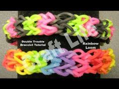 Craft Life Double Trouble Rainbow Loom Bracelet How to Video Tutorial