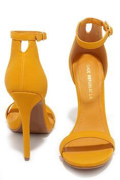 Wild Diva Lounge Adele 94 Light Yellow Ankle Strap Heels - Lulus ...