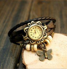 Relógios bracelete butterfly  Moda verão.  www.lojacarrodebolso.com.br