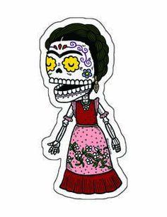 Frida Kahlo Calavera Vinyl Sticker   Flickr - Photo Sharing!