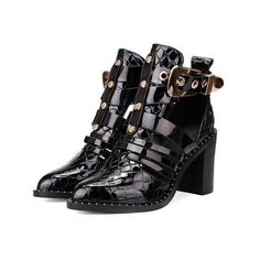 b64d4bdcf05 Rivet Womens Ankle Boots Sandals Pointy Toe Oxfords Block Heel Buckle  Hollow Out