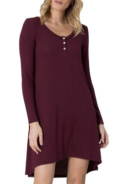 Z Supply The Marled Sweater Dress in Sangria  ZD163172Sangria