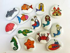 Under the sea story stone collection. by STORYSTONESLOU on Etsy