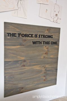 star wars head boatd | Rustic Planked Headboard, Star Wars Style - Yellow Bliss Road