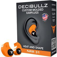 Decibullz Custom Molded Earplugs 31dB Highest NRR. Comfor…
