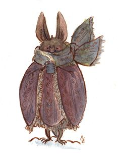 warmly dressed bat, an art print by Lilla Ivanich - INPRNT Character Art, Character Design, Art Blog, Cute Art, Art Inspo, Art Reference, Amazing Art, Concept Art, Art Drawings