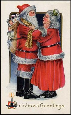 Mr and Mrs Santa Claus by trudy