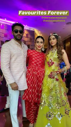 If you thought Karisma Kapoor stole the show at Armaan Jain and Anissa Malhotra's Mehendi ceremony with her ravishing pictures, which she d. Lehenga Designs Latest, Celebrity Weddings, Celebrity Style, Sister Of The Groom, Mango Clothing, Mehendi Outfits, Karisma Kapoor, Groom Wear, Girl Photography Poses