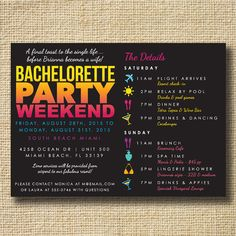 bachelorette invitation bachelorette party invitation