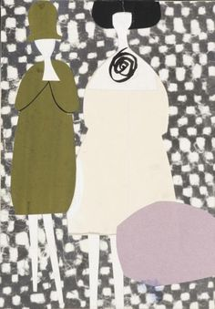 Lora Lamm, designs for La Rinascente poster, 1959. Italy. Via Museum für Gestaltung.