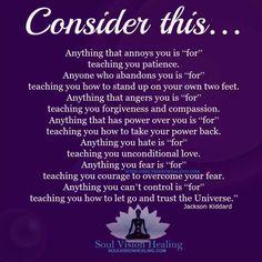 Living life with (Spiritual) Awareness! Words Quotes, Wise Words, Life Quotes, Fear Quotes, Wise Sayings, Spiritual Awareness, Spiritual Quotes, Along The Way, Deep Thoughts