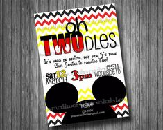 Mickey Mouse Oh Toodles Birthday Party Invitation DIGITAL FILE