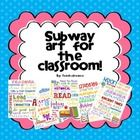 This is a set of 5 Subway Art posters for the classroom. The themes are:  Teacher  Reading  Math  Science  History    These could be used to decorate spec...