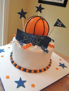 Basketball Cake by Sweet Maddie Lee Cake Design- Becky, via Flickr