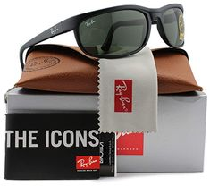 390fa66ba Ray-Ban RB2027 Predator 2 Sunglasses Matte Black w/Crystal Green (W1847)