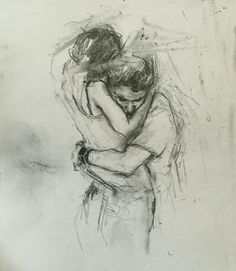 if you get close to her kiss her once for me Skiss – Art Sketches Pencil Art Drawings, Art Drawings Sketches, Love Drawings, Art Sketches, Art Amour, Art Du Croquis, Silhouette Painting, Couple Drawings, Paintings