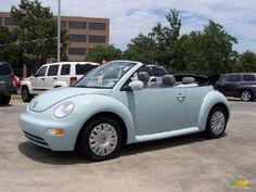 Blue Volkswagen Bug | 2005 Aquarius Blue Volkswagen New Beetle GL Convertible #13243085 ...
