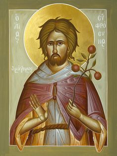 St Euphrosynos The Cook Painting