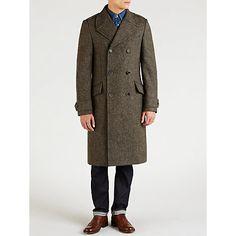 Buy JOHN LEWIS & Co. Abraham Moon Beeswax Coat, Grey Online at johnlewis.com