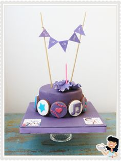 Violetta (Disney Channel) Cake. #cake #violetta www.sweetmama.es