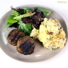 Beef Rissoles with Grilled Potatoes by Curtis Stone! #TheChew