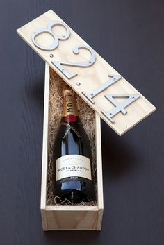 diy Wedding Crafts:  Wedding Ceremony Wine Box Tutorial.. Wine can than be stored until your anniversary.. Cute idea