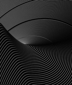 organic parametric wave design B&W