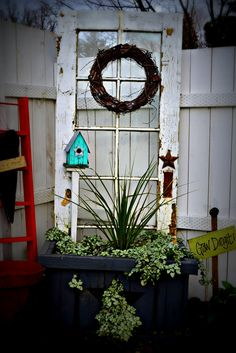 old door planter box