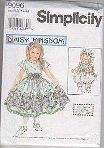 sewing projects by daisy kingdom | Amazon.com: Simplicity 9096 - Daisy Kingdom Child's Dress & Doll Dress ...