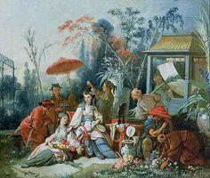 François Boucher - The Chinese Garden, c.1742