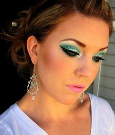 Holiday Party look with Rhinestones! http://www.makeupbee.com/look_Holiday-Party-look-with-Rhinestones_15174
