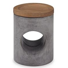 "Constantin Stool by Mr. Brown.   Finish: French Oak/ Slate Concrete Top: Dia. 14 x H1.5 Base: Dia. 14 x H16.5  <a href=""{{media url=""product/WON_Care_Instructions_10.pdf""}}"" alt=""WON Care Instructions"" target=""_blank"">*View Care Instructions</a>"