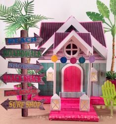 The Rogue Stamper: Beach House Dreams - Amazing DIY paper summer beach house surf shack #svgfiles