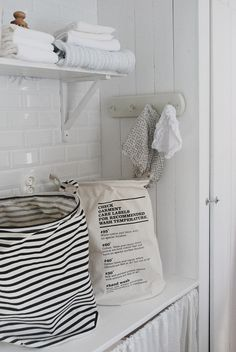 Julias vita drömmar - Förhandsboka Laundry bag stripes - House Doctor
