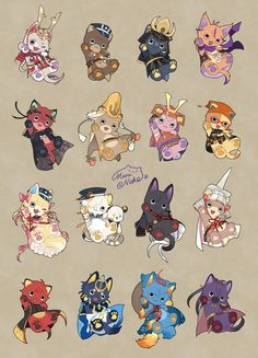 【刀剣乱舞】極短刀にゃんこ : とうらぶnews【刀剣乱舞まとめ】 Cute Animal Drawings, Kawaii Drawings, Cartoon Drawings, Cute Drawings, Mascot Design, Anime Tattoos, Pokemon, Weird Creatures, Cute Chibi