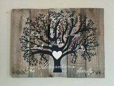 Custom Family Tree Wood Pallet Sign by BarberFarms on Etsy